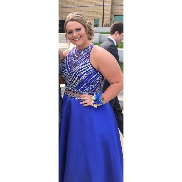 Mori Lee Dresses Royal Blue 2 Piece Prom Dress Poshmark